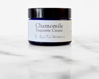 Chamomile Exquisite Cream - Organic Antioxidant Facial Moisturizer For Sensitive Skin and All Skin Types - Vegan, Paraben Free Face Cream