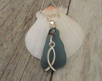 Inspirational Sea Glass Necklace