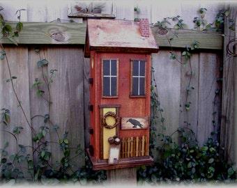 Folk Art Primitive Country Birdhouse