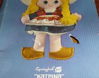 Vintage Springbok Katrina Doll Craft Kit