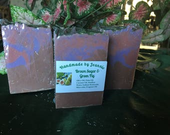 Hand Made Soap - Brown Sugar and Green Fig