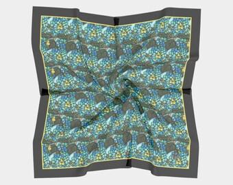 Square Scarf - Blue Hydrangea (2 Sizes)