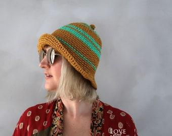 Sommer-Hüte - sommerhut - häkeln - Sonnenhut - Cloche Hut - Strand - Stroh Hut - Sonnenhut - Baumwolle Hut - Crochet Hut - Sommer Strick