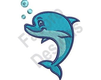 Cute Dolphin - Machine Embroidery Design