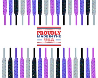 Sparkly Fashion Laces - Permanent Sparkle & Glitter - Add flair to any project! Made in USA!