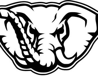 alabama elephant etsy rh etsy com alabama football helmet clipart alabama crimson tide football clipart
