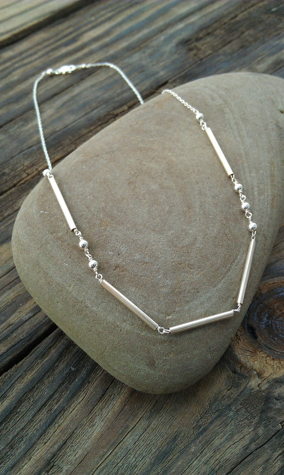 """Sterling Silver Morse Code Necklace """"Love""""- Custom Name/Word Necklace"""