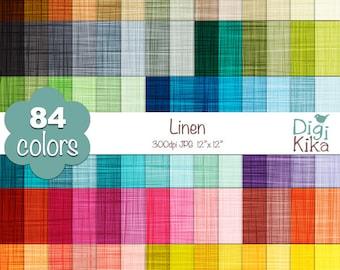 Linen Digital Papers - Rainbow Linen Papers - Linen Vector Texture Scrapbook Papers - Huge Paper Pack- INSTANT Download