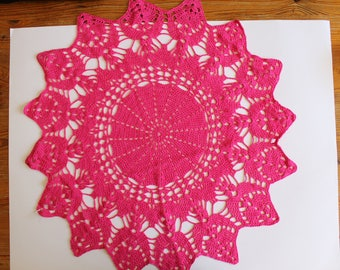 Crochet, Doilies, Pink Crochet Doily, Crochet Doilies, Cotton Doily, Crochet Table Runner, Table Decoration, Crochet Lace, Mandala, Lace