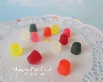 Fake Candy Faux Smooth Gum Drops Christmas Holiday Sweets Rainbow Display Food Prop Decor