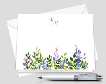 Monogram notecards a thank you gift for friend set of 12 with envelopes