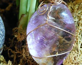 Ametrine Crystal, Ametrine Pendant, Amethyst Point, Lucky Charm, Quartz Point, Citrine Crystal, Amethyst with Citrine ~932