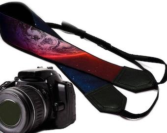 Galaxy camera strap. Cosmos Camera strap.  DSLR / SLR Camera Strap. Camera accessories.