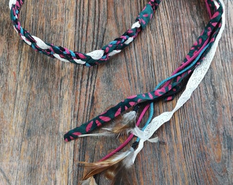 Bohemian headband. Boho hairband. Gypsy headband, hippie hairband,