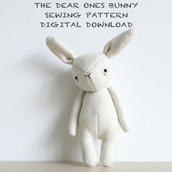 sewing pattern the dear ones bunny soft toy pdf pattern