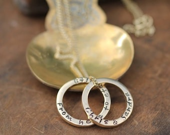 Personalised Gold Duo Ring Necklace