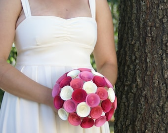 Large Bridal Bouquet - Build Your Own Bridal Bouquet - Handmade Paper Flower Bridal Bouquet