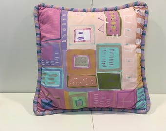 80s hand painted decorative accent pillow *FREE SHIPPING*