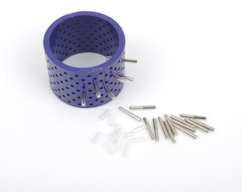 Wire Bangle Bracelet Jig with 20 Pegs, wire wrapping bangle bracelets or cuff bracelets, bracelet forming, wire working tool, tol0516