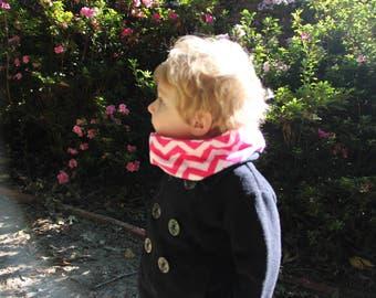 Toddler - Pink Chevron Infinity Scarf