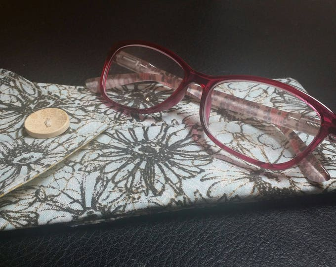 EYE GLASS CASES-Blue, Black n' Yellow Floral (Phone & glasses not included)