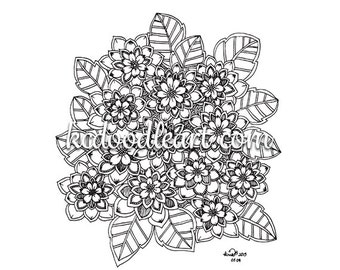 coloring page - flower designs