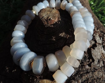 Angelite and Chalcedony Necklace