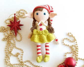 Elf Berry Pattern Christmas Elves (English and Turkish)