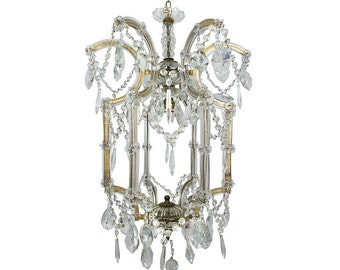 Antique Chandelier Murano Chandelier Vintage Chandelier Vintage Ceiling lamp Antique Italian lamp Glass chandelier Crystal chandelier
