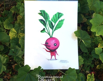 NEW Peculiar Plant Print 'RABANITO' by Rhode Montijo