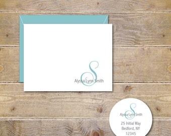personalized note cards personalized stationery personalized stationary hostess gift stationery set - Personalized Stationery Cards