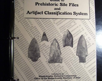1984 Book Guide To Prehistoric Site Files And Artifact Classification System Massachusetts