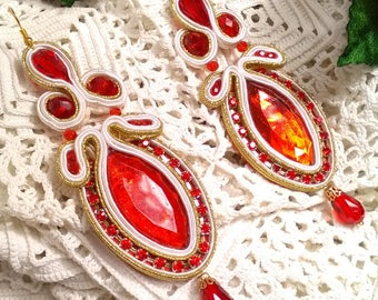 Flamenco earrings, party earrings, lady complement, bridesmaid, godmother earrings, Mother's Day