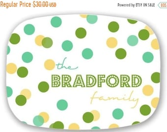 Memorial Day Sale Personalized Melamine Platter-monogram Easter spring summer tray