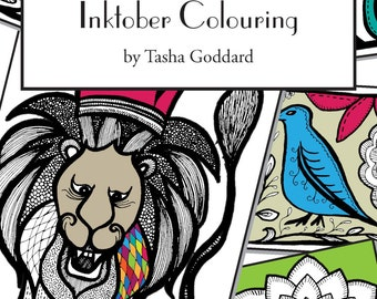 Inktober Colouring Book