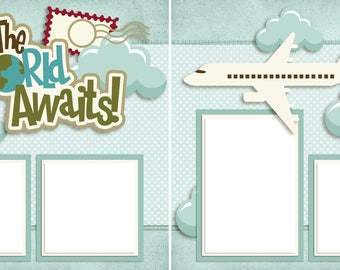 The World Awaits - Digital Scrapbooking Quick Pages - INSTANT DOWNLOAD