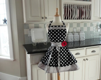 Company's Coming ~ Annabelle Style ~  Women's Full Kitchen Retro Modern Apron