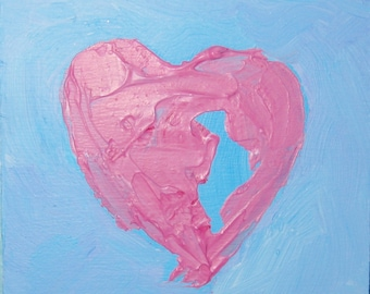 Heart Painting Abstract Art Paintings from the Heart Contemporary Western Avenue Artist Kathleen Daughan Wedding Anniversary Gift Fine Art