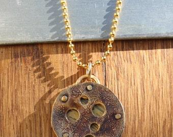 Handmade sterling silver necklace, handmade brass necklace, sterling silver, brass, handmade necklace