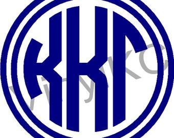 "Kappa Kappa Gamma Sticker Greek Monogram Letter 5"" *Buy 2 Get 1 Free*"