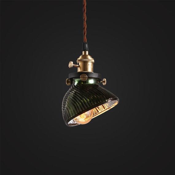 Vintage X Ray Jade Glass Lamp Pendant Light Hanging Lamp