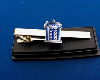 Dr Who TARDIS Police Call Box Tie Clip~Father's Day Gift