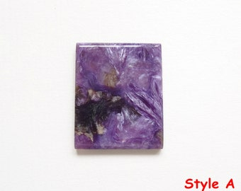 Purple Charoite Flat Rectangle with Beveled edges for setting beadweaving G5154