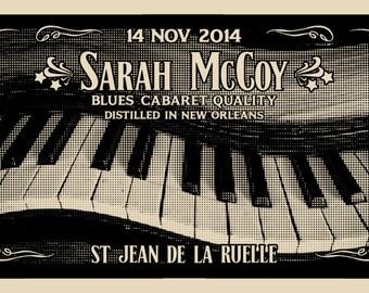 gig poster SILKSCREEN SARAH MCCOY