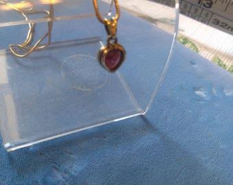 Amethyst Heart in 14K with 17 inch 14K Chain
