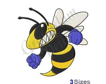 Hornet Mascot - Machine Embroidery Design