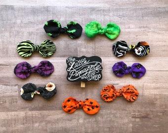 Halloween knot hair bow set