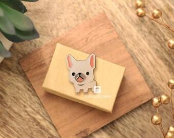 French Bulldog Pin (Fawn Frenchie)