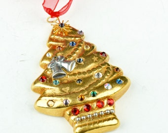 Christmas Ornaments, crysals on a Christmas tree sold by each,  09953