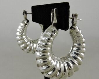 Mexican Silver Hoop Earrings From Mazatlan Sale Price